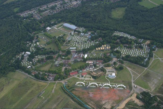 bisley camp from the air