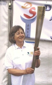 Olympic torch at Bisley